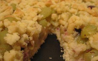 Виноградный пирог «Песочный» в мультиварке, пошаговый рецепт с фото
