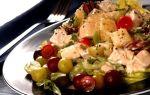 Аппетитный салатик из индейки с виноградом