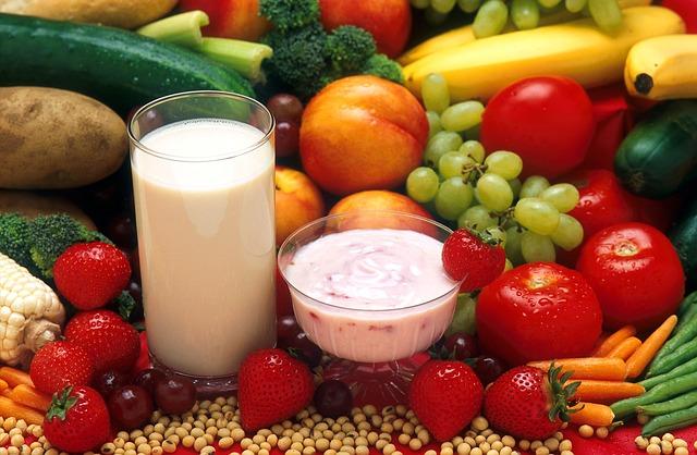 фрукты йогурт