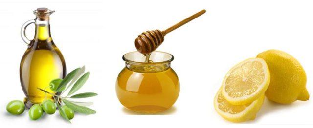 мед, лимон, масло